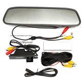4.3İnçTFTLCDRenkliMonitör CCD Ters HD Dijital Araba Arkadan Görünüm Kamera Vauxhall Zafira için