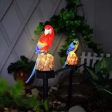 Zonne-energie LED gazon licht Parrot Outdoor waterdichte landschap Lamp tuin Decor