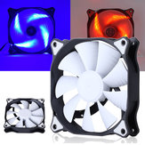 12cm 3 Pin 4 Pin LED Light Computer Cooling Fan Cooler Heatsink for Computer Case Mining