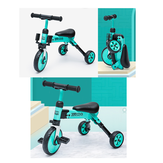 KIWICOOL 3 Wheels 2in1 Toddler Tricycle Bike Children Scooters Anti-rollover Kids Trike Balance Bike For 2/3/4/5 Year Old With Quick-Release Folding System