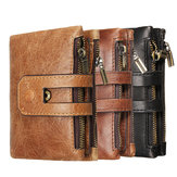 Outdoor Travel Men Slim RFID Lederen Bifold Wallet Kaarthouder Portemonnee Billfold Pocket