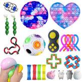 23/25 sztuk Fidget Bubble zabawki zestaw sensoryczny DIY artefakt dekompresji Fidget Bubble Cube dla dorosłych dziewczyna dzieci ekspresja emocja stres