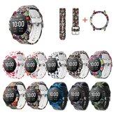 Relógio colorido Padrão Banda pulseira com relógio Caso capa para relógio inteligente Haylou Solar LS05