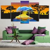 5StückeSetStarModerneLeinwanddruck Gemälde Ungerahmt Wandkunst Bilder Home Decor