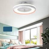 Ventilador de teto com iluminação LED Luz Stepless Dimming ajustável Velocidade do vento Controle Remoto Sem Bateria Modern LED Luz de teto para quarto Sala de estar Sala de jantar