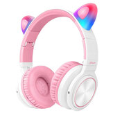 Picun Kids bluetooth 5.0 Headphone LED light Cat Ears TF Earphone Wireless Headset HIFI Stereo Bass Headphones With Microphone