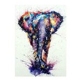 Colourful Elephant 5D Diamond Painting Embroidery Cross-stitch Wall Decor