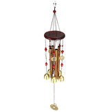 Solid Wood Bronze Wind Chimes Hanging Ornament Yard Garden Decor Gift