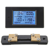 100A DC Misuratore di Potenza Digitale Multifunzionale Monitor di Energia Modulo Voltometro Amperometro con Derivazione 50A