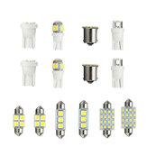 14PCS LED-interieurverlichting Kit T10 1157 36mm Festoen Dome Kentekenplaathouders Wit