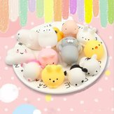 25 PCS Random Squishy Lot Slow Rising Kawaii Animal lindo Apretón de mano Juguete