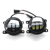 4 Inch COB LED Daytime Running Lights DRL Fog Lamp Dual Color for Ford F150/Honda/Nissan/Subaru/Acura