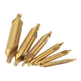 Drillpro HSS Titanium Coated Center Drill Bit 1/1.5/2/2.5/3/5mm 60 Degree Countersink Drill Bit