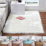 60X180cm Artificial Fur White Carpet Anti-slip Floor Mats Soft Fluffy Rugs For Living Room Chair Cushion Sofa