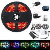 2 * 5 M IP65 SMD2835 Flexível RGB LED Luz de Tira Controlador WI-FI Inteligente Alexa APP Kit de Controle DC12V