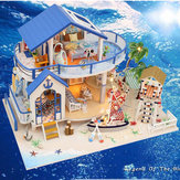 Hoomeda Legend Of The Blue Sea DIY Doll House Miniature Model With Light Music Collection G