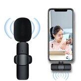 Bakeey A3 Vezeték nélküli Lavalier mikrofon alacsony késleltetésű hordozható audio-video felvétel Plug-play hajtóka Type-C mikrofon élő közvetítéshez