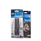 3/6 Pcs Professional Drawing Sketch Full Carbon Pen Art Student Pencil Painting Supplies