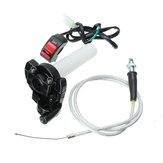Billet Throttle Kill Brake Switch & Braided Cable Set Motorized Bicycle Bike
