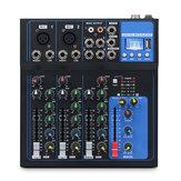 Bakeey 4-kanaals Bluetooth DJ Mic USB Drive Play Equalisatie-aanpassing Audio Mixer Contrl LED Digitale weergave Muziekstream