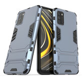 Bakeey for POCO M3 Case Armor Shockproof with Stand Holder PC Protective Case Back Cover