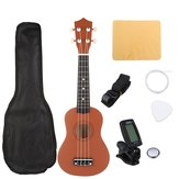 21 Zoll Brown Sopran Basswood Ukulele Uke Hawaii Gitarre Musikinstrument