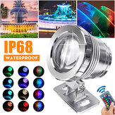 20W RGB LED Spot Lights Underwater Pool Pond Garden Lamp Waterproof + Remote