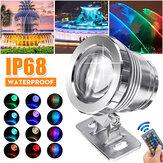 20W RGB LED Focos bajo el agua Piscina Estanque Jardín Lámpara Impermeable + Control remoto