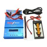iMAX B6AC 80W 6A Cargador de descarga dual con cargador XT60 T Plug Placa de adaptador de alimentación de carga paralela