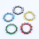 12 Section Stainless Steel Decompression Chain Bike Chain Fidget Toy Anti Stress Toy For Kids Adults Students