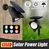 Водонепроницаемый LED Солнечная Газонный светильник Colorful / Тёплый белый + белый На открытом воздухе Настенный грунт Сад Безопасность на пут