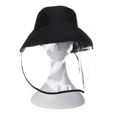 Anti Spitting Bucket Hat Face Shield Anti Splash Safety Windproof Dustproof Protection
