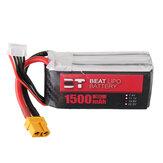 BT BEAT 14.8V 1500mAh 35C 4S Lipo Batterie XT60 Plug Avec Batterie Strap pour RC Racing Drone