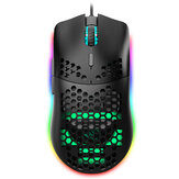 HXSJ J900 Filaire Gaming Mouse Honeycomb Hollow RGB Game Mouse avec Six DPI Design ergonomique réglable pour ordinateur de bureau PC portable