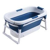 111 * 63 * 55cm Grande vasca da bagno ribaltabile Vasca da bagno per adulti Vasca da bagno per bambini con coperchio
