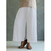 Celmia M-4XL Женское Твердое хлопковое льняное брюки