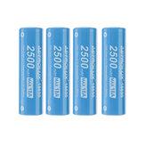 4 шт. Astrolux® E1825 18A 2500 мАч 3,7 В 18650 литий-ионный Батарея Незащищенный перезаряжаемый литиевый аккумулятор с высоким энергопотреблением для Astrol