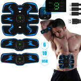 3 Pcs Smart Aptidão Abs Core Muscle Training Braço Muscle Body Shape USB Recarregável Sports Workout Home Academia
