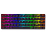 BlitzWolf® BW-KB1 Draadloos Bluetooth-toetsenbord Gateron Switch RGB 63 toetsen NKRO Type-C Mechanisch gamingtoetsenbord