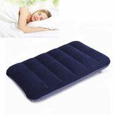47x 30 centímetros pvc flocking travesseiro inflação acampamento portátil viagens ao ar livre travesseiro sesta dormir
