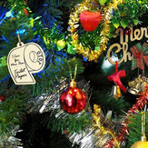10pcs Wooden Ornament Festival Commemorative Hanging Crafts Personalized Christmas Gift
