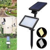 48 LED Solar Powered Flood Light Outdoor Yard Garden Landscape Spot Wall Lamp