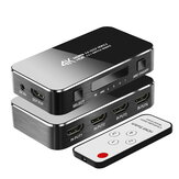 FSU HDMI Splitter 4 entradas 1 salida HDMI Switcher 3.5 Jack ARC HDMI Switcher Adapter con extractor de audio