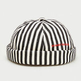 Stripe Beret Street Trends Melon Cap Vintage Innocent Metal Standard Sailor Brimless Chapeaux