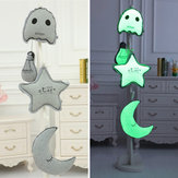 Creative Luminous Star Moon Ghost Light Bulb Plush Throw Pillow Noctilucence Cushion Gifts