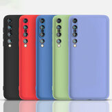 Bakeey Smooth Shockproof Soft Liquid Silicone Rubber Back Cover Protective Case for Xiaomi Mi 10 Pro 5G Non-original