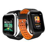Bakeey M16 Grand écran Boîtier métallique durable HR Message de pression artérielle Affichage de l'identification de l'appelant Montre intelligente multi-sport