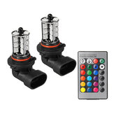 RGBW Multi-Color Car Headlight Fog Light Bulb H7 H11 9005 9006 with 24-Key Remote Controller 12V