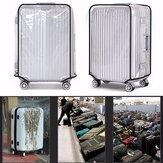 सामान रक्षक कवर पारदर्शी साफ़ पीवीसी यात्रा 22-28 इंच सूटकेस धूल सुरक्षात्मक