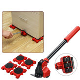 5Pcs Furniture Movers Lifter Transport Tool Set Lift System with 1 Lifter & 4 Sliders